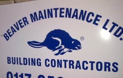 Building contractor sign