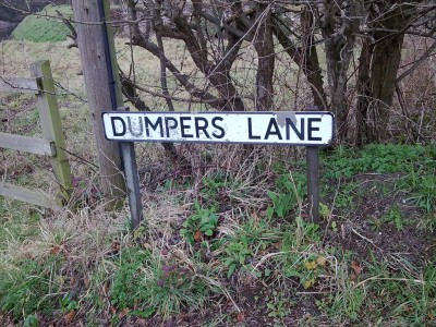 Dumpers Lane road sign