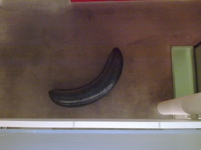 A dark banana - part of a sculpture