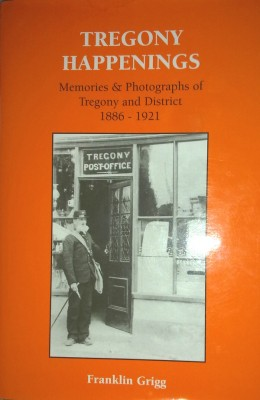 The cover of a book entitle 'Tregony Happenings'