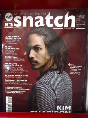 The front cover of Snatch magazine