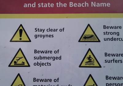 Stay clear of groynes