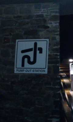 Pump out station sign