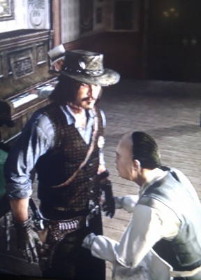 A funny graphical glitch in Red Dead Redemption