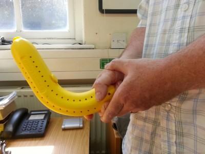 Phallic banana protector