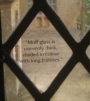 Muff Glass in a stately home