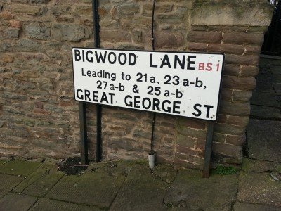 Bigwood Lane sign