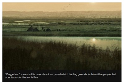 Artists impression of Doggerland - a Mesolithic location