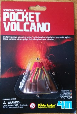 Pocket volcano toy warns of choking hazard