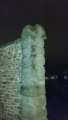 A wall that looks like a penis