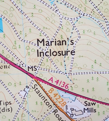 A map of Marian's inclosure
