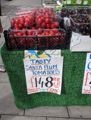 Santa's plum tomatoes