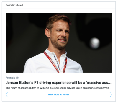 A twitter headline that has been shortened to include the phrase: a massive ass